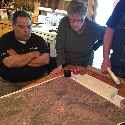 Group looking at wetland map