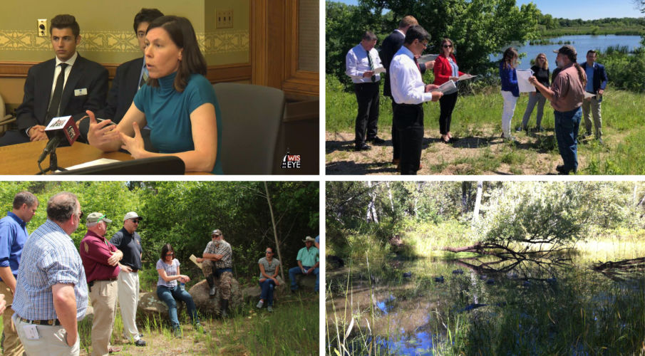 Four photos from various meetings, tours, and efforts WWA worked on in June.